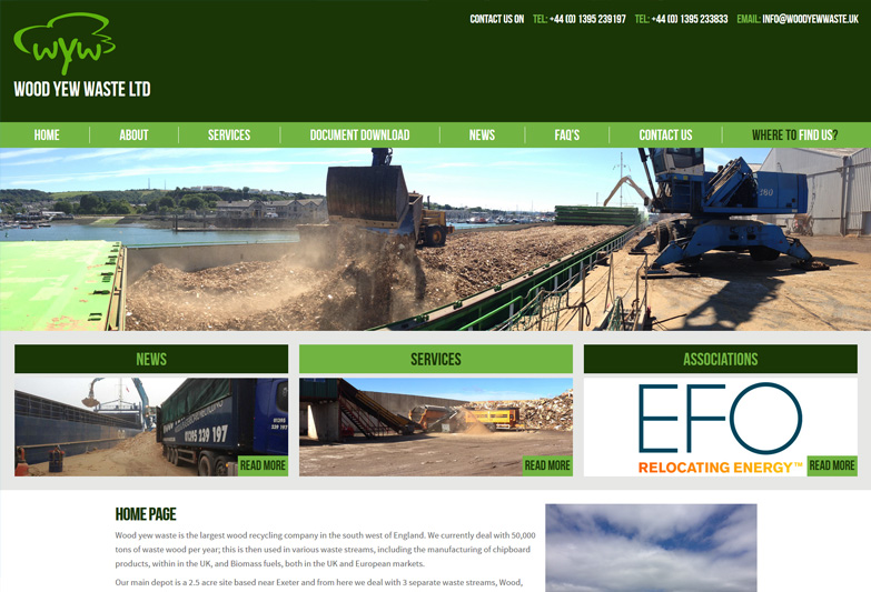 Wood Recycling Devon Website Design
